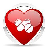 medicine valentine icon drugs symbol pills sign