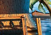 Veranda houseboat