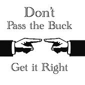 pass the buck sign