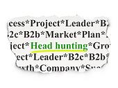 Finance concept: Head Hunting on Paper background
