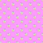 Cupcake pink vector background
