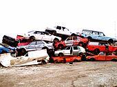 At the junk yard