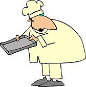 Chef Holding A Pan