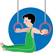 Gymastics Boy on Rings