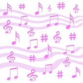 music note gift wrap