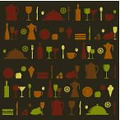 Vector background with with dishes