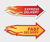 Express and Fast Delivery symbols.