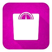 weight violet flat icon, christmas button