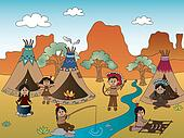 american indian village