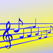 Musical Notes Abstract