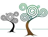 Spirally Tree Designs