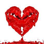 3d Heart water.