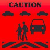 pedestrian caution