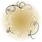 floral circle gold