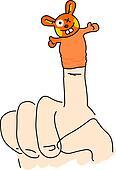 whacky finger puppet