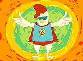 Super hero Chicken