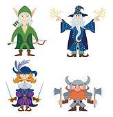 Fantasy heroes, set
