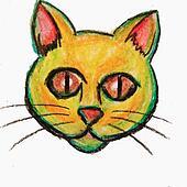 Multicolored Fat Cat