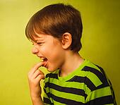 baby boy teenager poisoning vomiting belching, anorexia fingers