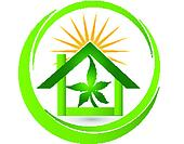 House leaf cannabis plant logo