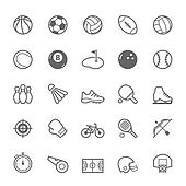 Outline stroke Sport icons