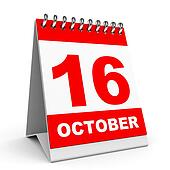 Calendar. 16 October.