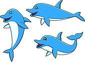 Dolphin cartoon collection
