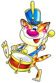 Cat with a drum.