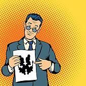 Psychologist concept, comics style