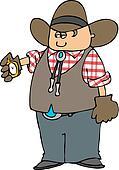 Cowboy With A Pocket Watc