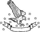American Eagle & Banner i