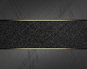 Background of metal with black plate. Design template. Template for site