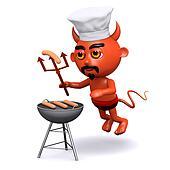 3d Devil has a barbecue