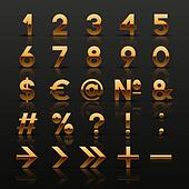 Golden numbers and symbols