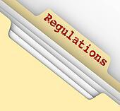 Regulations Word Red Ink File Manila Folder Tab Documents