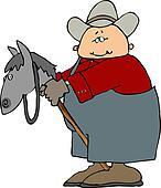 Man On A Stick Horse