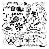 Elements for design, brush, vector
