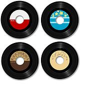 Retro 45 RPM Record