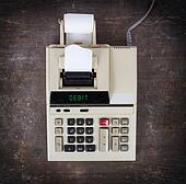 Old calculator - debit