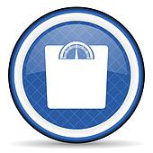 weight blue icon