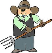 Cowboy With A Pitchfork