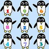 seamless penguin background pattern