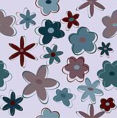 Seamless flower backgroun