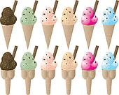 ice cream variation sprinkle