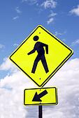 sign - WATCH PEDESTRIANS