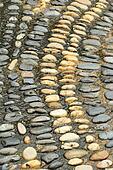 Wet round stone rock texture