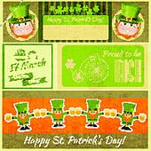 Patricks Day Retro Card