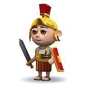 3d Roman soldier is ready