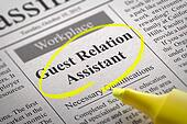 Guest Relation Assistant Jobs in Newspaper.
