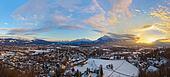 Salzburg Austria at sunset